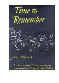 Eric Pinkett - Time to Remember Book