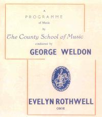 LSSO - Programme Covers and Musicians - 1960