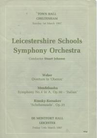LSSO - Programme Covers and Musicians - 1987